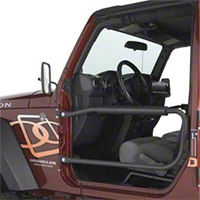 Olympic 4x4 Safari Doors - Textured Black (97-06 Wrangler TJ) - Olympic 4x4 131-121