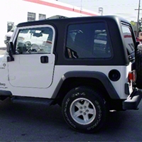 Rally Tops One Piece Hardtop (87-95 Wrangler YJ w/ Full Doors) - Rally Tops RLT-YJ-1