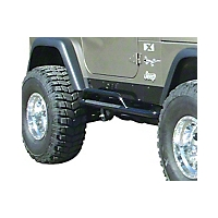 OR-Fab Rock Slider Side Bars, Wrinkle Black (97-06 Wrangler TJ) - OR-Fab 84100