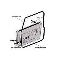 Omix-ADA Passenger Outer Door Weather Stripping (97-06 Wrangler TJ w/ Full Doors) - Omix-ADA 12303.12