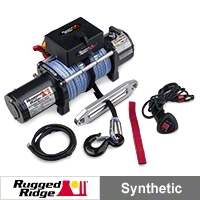Rugged Ridge Performance 10,500lb. Off Road Winch w/Prewound Synthetic Rope (Universal Application) - Rugged Ridge 15100.11