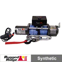 Rugged Ridge Performance 8,500lb. Off Road Winch w/Prewound Synthetic Rope (Universal Application) - Rugged Ridge 15100.02