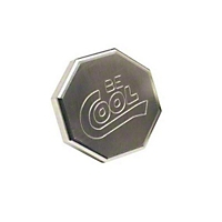 Be Cool Radiator Cap w/ Octagon Style and Natural Finish (Universal Application) - Be Cool 70002