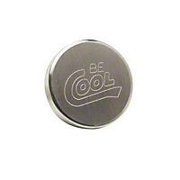 Be Cool Radiator Cap w/ Round Style and Natural Finish (Universal Application) - Be Cool 70001