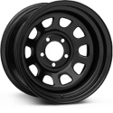 Rough Country RCX Black Steel Wheel  - 15x8 (87-06 Wrangler YJ & TJ) - Rough Country PCW51-5865