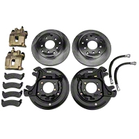 Teraflex Rear Disc Brake Kit- Late Model Bearing Pocket (91-95 Wrangler YJ, 97-06 Wrangler TJ) - Teraflex 4354420