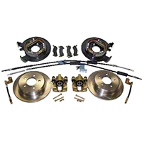 Crown Automotive Rear Drum to Disc Brake Conversion Kit for Dana 35 (97-05 Wrangler TJ) - Crown Automotive D35DISC