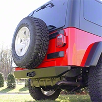 Rugged Ridge Heavy Duty Rear Offroad Bumper (97-06 Wrangler TJ) - Rugged Ridge 11546.01