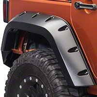 Bushwacker Rear Pocket Flare Kit (07-13 Wrangler JK 4 Door) - Bushwacker 10044-02