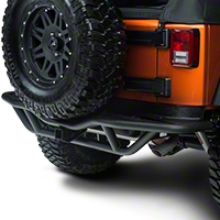 Rugged Ridge Rear RRC Bumper w/ Hitch, Textured Black (07-15 Wrangler JK) - Rugged Ridge 11503.15