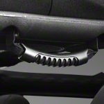 Rugged Ridge Rear Side Black Grab Handle Pair (07 Wrangler JK) - Rugged Ridge 13305.14