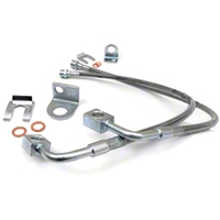 Rough Country Rear Stainless Steel Brake Lines w/ 4-6 In. lift (07-13 Wrangler JK) - Rough Country 89708