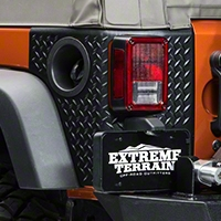 Rugged Ridge Rear Tall Corner Guards Pair Body Armor, Black (07-14 Wrangler JK 2 Door) - Rugged Ridge 11651.02