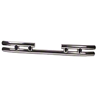 Rugged Ridge Tubular Rear Bumper w/o Hitch, Stainless Steel (87-06 Wrangler YJ & TJ) - Rugged Ridge 11573.03