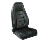 Rugged Ridge Reclining Front Seat, Black Vinyl (87-02 Wrangler YJ & TJ) - Rugged Ridge 13402.01