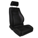 Rugged Ridge Reclining Front Super Seat w/Headrest, Black Vinyl (87-02 Wrangler YJ & TJ) - Rugged Ridge 13404.01