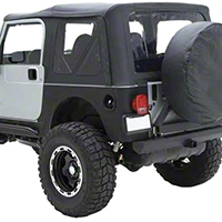 Smittybilt Replacement Top w/ Upper Door Skins, Black Denim (87-95 Wrangler YJ) - Smittybilt 9870215