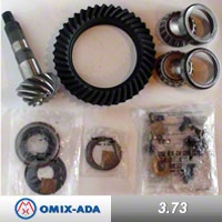 Omix-ADA Ring & Pinion Kit, 3.73 Ratio ( 41x11 Teeth), for Front Dana 30 (97-04 Wrangler TJ w/o Disconnect) - Omix-ADA 16513.32