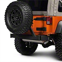 Rancho Rock Gear Rear Offroad Bumper w/ Tire Carrier (07-15 Wrangler JK) - Rancho RS6221B