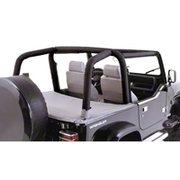 Rugged Ridge Roll Bar Cover Kit, Full Kit, Denim Black (97-02 Wrangler TJ) - Rugged Ridge 13612.15