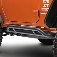 Rugged Ridge RRC Black Rocker Guards (07-14 Wrangler JK 2 Door) - Rugged Ridge 11504.23||11504.23