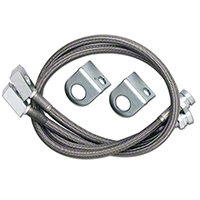 Rubicon Express Front Stainless Steel Brake Lines w/ 2.5-7 In. Lift (87-95 Wrangler YJ) - Rubicon Express 1555