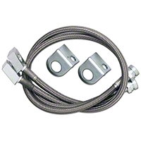 Rubicon Express Front Stainless Steel Brake Lines w/ 4.5 In. Lift (97-06 Wrangler TJ) - Rubicon Express 1553
