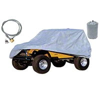 Rugged Ridge 3 Piece Full Car Cover Kit (87-06 Wrangler YJ & TJ) - Rugged Ridge 13321.72