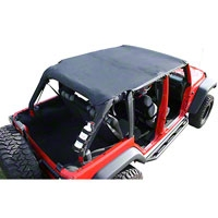 Rugged Ridge Pocket Island Top, Black Diamond (07-09 Wrangler JK 4 Door) - Rugged Ridge 13589.35