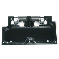 Rugged Ridge Black License Plate Bracket (87-95 Wrangler YJ) - Rugged Ridge 55007403||55007403