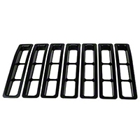 Rugged Ridge Black Plastic Grill Insert Kit (97-06 Wrangler TJ) - Rugged Ridge 11306.03