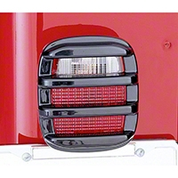 Rugged Ridge 2 Black Taillight Guards (87-06 Wrangler YJ & TJ) - Rugged Ridge 11354.02
