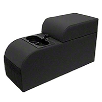 Rugged Ridge Contoured Locking Console -  Black Denim (87-95 Wrangler YJ) - Rugged Ridge 32015