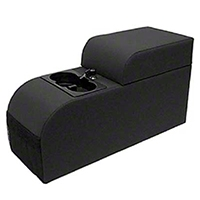 Rugged Ridge Contoured Locking Console - Black Vinyl (87-95 Wrangler YJ) - Rugged Ridge 32001