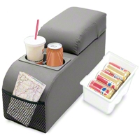 Rugged Ridge Contoured Locking Console - Gray Vinyl (87-95 Wrangler YJ) - Rugged Ridge 32009