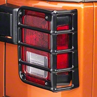 Rugged Ridge Euro Guard Rear Light Guards, Black (07-13 Wrangler JK) - Rugged Ridge 11226.02