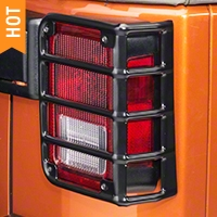 Rugged Ridge Euro Guard Rear Light Guards, Black (07-16 Wrangler JK) - Rugged Ridge 11226.02