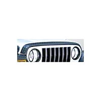 Rugged Ridge Textured Black Plastic Hood Stone Guard (97-06 Wrangler TJ) - Rugged Ridge 11650.17