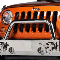 Rugged Ridge Hoop Over Rider Stainless w/ Xtreme Heavy Duty Bumper (87-14 Wrangler YJ, TJ & JK) - Rugged Ridge 11540.16