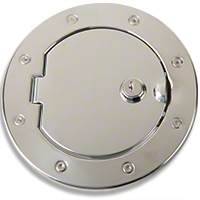 Rugged Ridge Locking Stainless Steel Gas Hatch Cover (07-08 Wrangler JK) - Rugged Ridge 11134.03