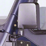 Rugged Ridge Mirror Relocation Brackets, Black (97-02 Wrangler TJ) - Rugged Ridge 857004