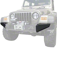 Rugged Ridge Modular XHD Front Bumper End Sections, Textured Black (87-06 Wrangler YJ & TJ) - Rugged Ridge 11540.42