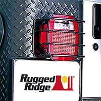 Rugged Ridge Rear Euro Tail Light Guards, Black (87-06 Wrangler YJ & TJ) - Rugged Ridge 8660