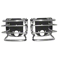 Rugged Ridge Rear Euro Tail Light Guards, Stainless (87-06 Wrangler YJ & TJ) - Rugged Ridge 11103.02
