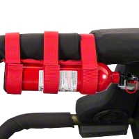 Rugged Ridge Red Sport Bar Fire Extinguisher Holder - Rugged Ridge 13305.2