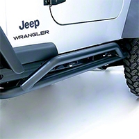 Rugged Ridge Rock Crawler Rock Sliders, Pair, Textured Black (87-06 Wrangler YJ & TJ) - Rugged Ridge 11504.11