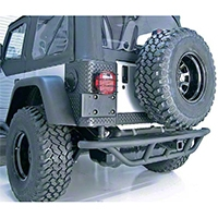 Rugged Ridge RRC Rear Bumper w/o Tire Carrier, Titanium (87-06 Wrangler YJ & TJ) - Rugged Ridge 11503.12