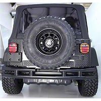 Rugged Ridge Tubular Rear Bumper w/o Hitch, Gloss Black (87-06 Wrangler YJ & TJ) - Rugged Ridge 11570.03