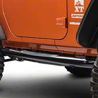 Rugged Ridge Shiny Black Side Step Pair (07-13 Wrangler JK 2 Door) - Rugged Ridge 11590.05