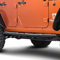 Rugged Ridge Shiny Black Side Step Pair (07-14 Wrangler JK 4 Door) - Rugged Ridge 11590.06